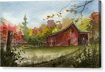 Small Fall Barn Canvas Print by Sean Seal