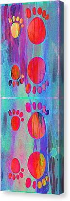 Bokhe Canvas Print -  Small Feet And Big Feet 11 by Jean Francois Gil