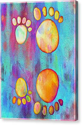 Bokhe Canvas Print - Small Feet And Big Feet 9 by Jean Francois Gil