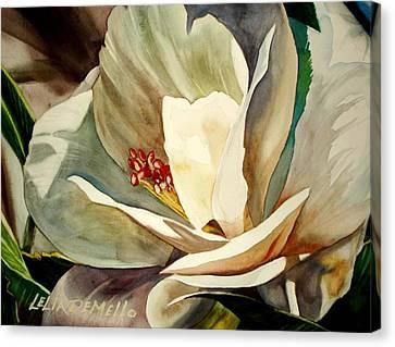 Small Gardenia Canvas Print by Lelia DeMello