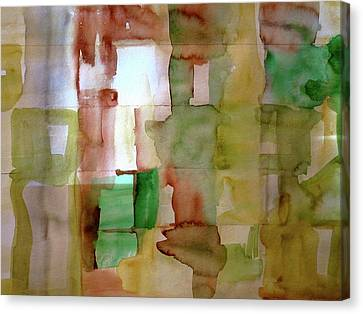 Small Grid In Earth Tones Canvas Print by Joan Norris