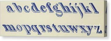 Schoolroom Canvas Print - Small Italian Font by English School
