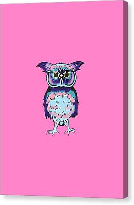 Small Owl Pink Canvas Print