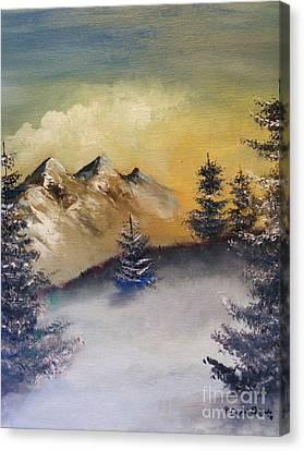 Small Pine  Canvas Print by Crispin  Delgado