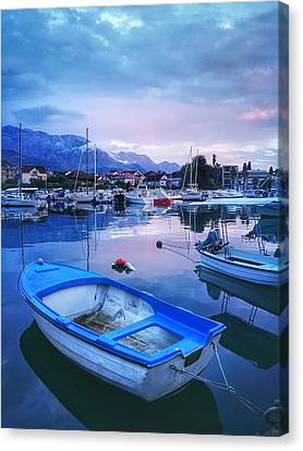 Small Port In Monenegro  Canvas Print by Kiss Aurora Minna