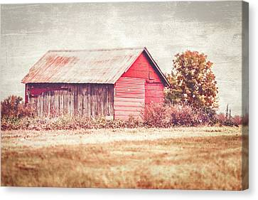 Small Red Barn Canvas Print by Andrea Kappler
