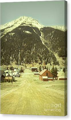 Small Rocky Mountain Town Canvas Print by Jill Battaglia