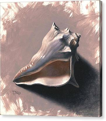 Small Seashell Canvas Print by Timothy Jones