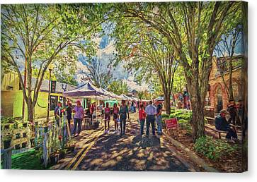 Canvas Print featuring the photograph Small Town Festival by Lewis Mann