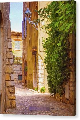 Small Town France Canvas Print