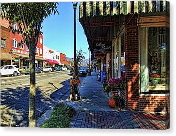 Small Town U. S. A. Canvas Print by HH Photography of Florida