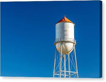 Small Town Water Tower Canvas Print by Todd Klassy