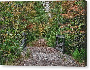 Canvas Print featuring the photograph Small Trestle Along Rail Trail by Jeff Folger