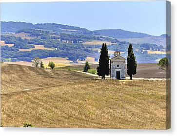 Small Tuscan Chapel Canvas Print by Juergen Feuerer