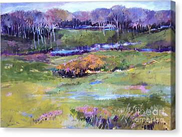 Canvas Print featuring the painting Small Valley by Diane Ursin