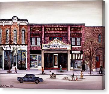 Smalley's Theater, Cooperstown, N.y. Canvas Print by Janet Munro