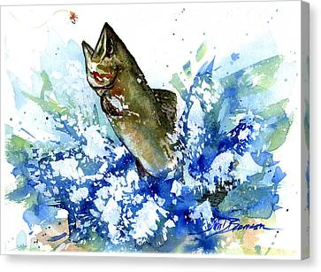 Smallmouth Bass Canvas Print by John D Benson