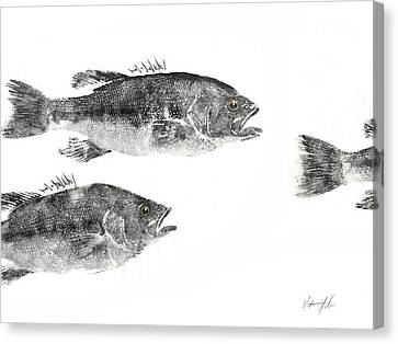 Gyotaku Canvas Print - Smallmouth by Nate Huber