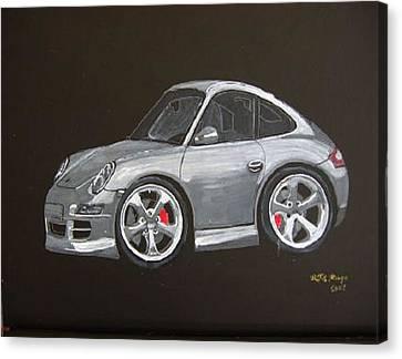 Smart Porsche Canvas Print by Richard Le Page
