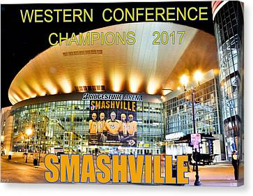 Smashville Western Conference Champions 2017 Canvas Print