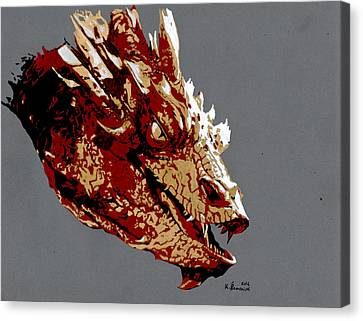Smaug The Unassessably Wealthy Canvas Print