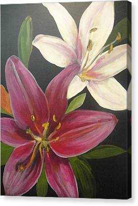 Smell The Lilies Canvas Print