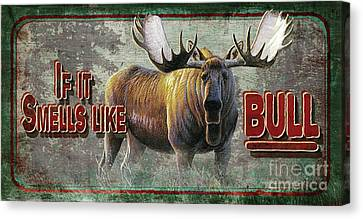 Canvas Print - Smells Like Bull Sign by Cynthie Fisher