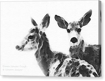 Smidgeon And Rudi Canvas Print by Lenore Senior and Dawn Senior-Trask