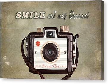 Smile And Say Cheese Canvas Print by Tom Mc Nemar