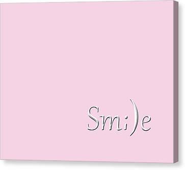 Smile Canvas Print by Cherie Duran