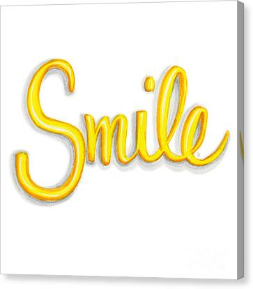 Smile Canvas Print by Cindy Garber Iverson