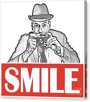 Smile Canvas Print by Edward Fielding