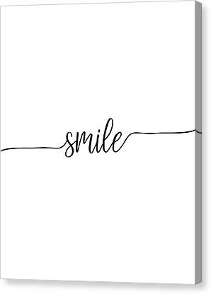 Smile Canvas Print by Jaime Friedman
