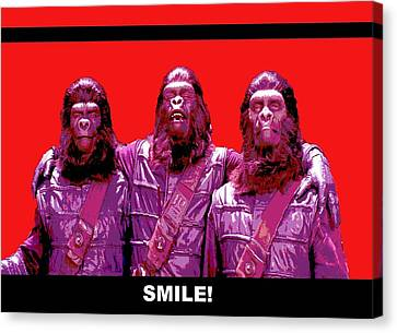 1960 Movies Canvas Print - Smile by Martin James