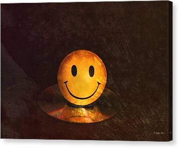 Disk Canvas Print - Smile by Peter Chilelli