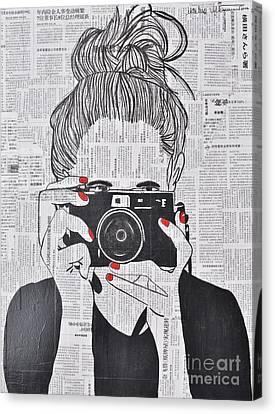 Smile Twice Canvas Print