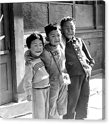 Smiles From Korea Year 1955 Canvas Print by Dale Stillman