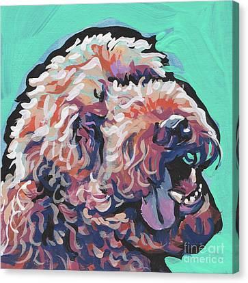 Canine Art Canvas Print - Smiley Face by Lea