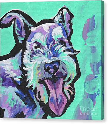 Smiley Schnauz Canvas Print by Lea