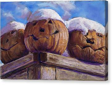 Canvas Print featuring the pastel Smilin Jacks by Billie Colson