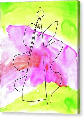 Smiling Angel Canvas Print by Nikolyn McDonald