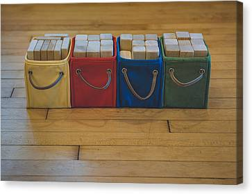 Smiling Block Bins Canvas Print by Scott Norris