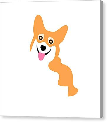 Smiling Corgi Pup Canvas Print