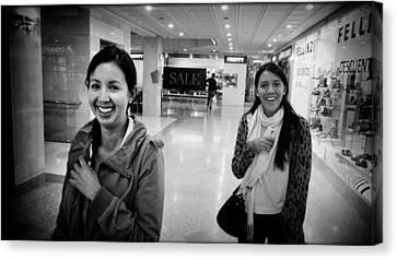 Smiling Girls Brighten My Day Canvas Print by Daniel Gomez