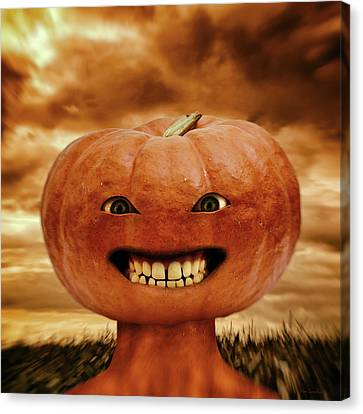 Creepy Canvas Print - Smiling Jack by Wim Lanclus
