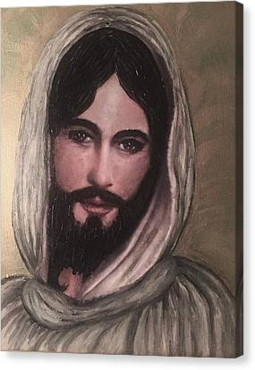 Smiling Jesus Canvas Print by Cena Caterine