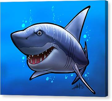 Smiling Shark Canvas Print