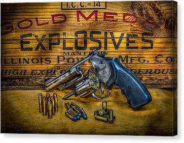 Police Officer Canvas Print -  357 Magnum by Paul Freidlund