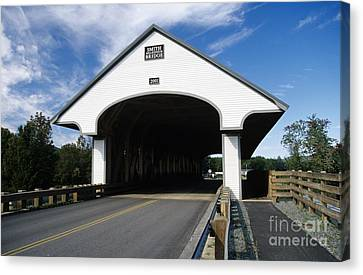 Long Street Canvas Print - Smith Covered Bridge - Plymouth New Hampshire Usa by Erin Paul Donovan