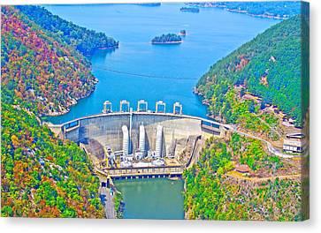 Smith Mountain Lake Dam Canvas Print by The American Shutterbug Society